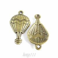 40pcs Vintage Style Bronze Alloy Hot Air Balloon Pendant Charms Jewelry38633