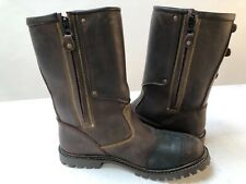 Spada Foundry Leather Motorcycle Boots Waterproof Touring Brown 43 uk 9