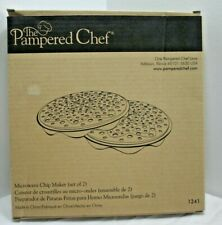 The Pampered Chef Microwave Potato Chip Maker 1241 New In Box *Sj
