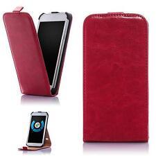 Flip Handy Tasche Samsung Galaxy S4 mini i9190 Schutz Hülle Cover Case Etui Rot