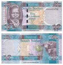 SOUDAN DU SUD 10 lb (environ 4.54 kg) ND 2011 P-7 faible numéro de série billets UNC