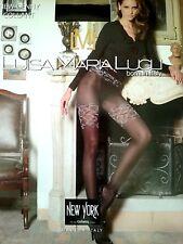 Luisa Maria Lugli New Jenny Tights Micro Pantyhose Flowers Garland Black S