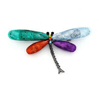 Betsey Johnson Colorful Resin Crystal Cute Dragonfly Charm Women's Brooch Pin