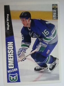 1996-97 Upper Deck Collector's Choice #116 Nelson Emerson Hartford Whalers