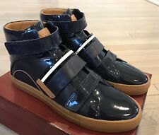 700$ Bally Herick Blue Leather High Tops Sneakers size US 13