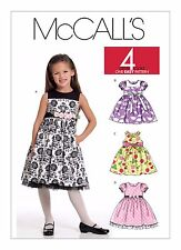McCall's Sewing Pattern M5793 SZ 6-8  Childs Easy Dresses Pinafore 4 Great Looks