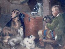 Highland Music, kolorierter Kupferstich, 1849 v. Henry S.BECKWITH (*1809; †1895)