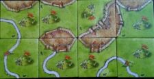 Carcassonne THE HILLS (8 illes) RARE OLD DESIGN no box. board game expansion