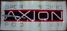 VINTAGE AXION FOOTWEAR WINDOW DEALER STICKER HUGE, Decals Skateboarding New