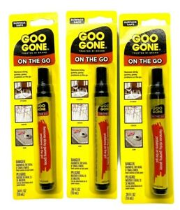 Goo Gone On The Go Pen Adhesive Removing Stickers Price Tags,Etc Lot Of 3-10 ml