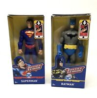 """Justice League Superman & Batman 6"""" Action Figures DC Comics Mattel Lot of 2"""