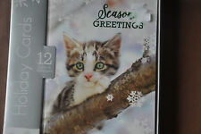 "Christmas Cards / ""Seasaons Greetings"" / 12 Cards & Envelopes"
