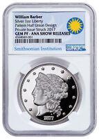 1877 Barber Half-Union Pattern 1 oz Silver Medal Denver ANA NGC GEM PF SKU48673