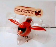 Solar Powered Fluttering Red Cardinal Bird with Hanger Flaps Wings