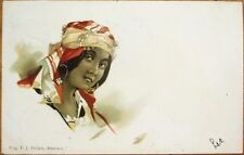 Art Nouveau 1902 Postcard: Arabien/Arabian Woman - Color Litho
