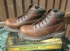 Mens Skechers Boots Cool Cat Bully II Dark Brown Boots UK 10 Leather New In Box