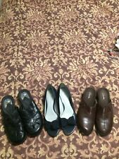 Shoes Lot Womens 7 Black Brown Dr Scholl's