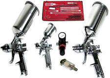 6PC HVLP AIR SPRAY PAINT GUN 0.8, 1.4 & 1.7 MM REGULATOR  FILTER CLEANING TOOLS