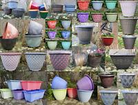 2 x Multiple Size Plant Pots Planters Bowl Patio Pot Plastic Flower Garden Decor