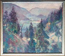 Tal Riesengebirge ? Öl 60 x 69 cm um 1930 Paul Groß 1873-1942 Neue Sachlichkeit