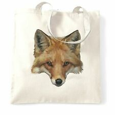 Animal Art Tote Bag Low Poly Fox Graphic Wildlife Predator City Sly Cute