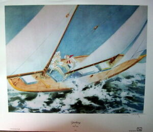 "Large Louis Icart ""Yachting"" (copyright 1936; reprinted 1990)"