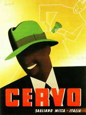 110833 ISING CERVO FEDORA HAT SAGLIANO ITALY COOL STYLE LAMINATED POSTER AU