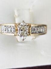estate Engagement diamond ring yellow 10kt gold .40ct , Size 7 1/2
