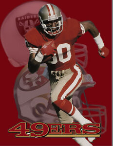 SF 49ers Lithograph print of Jerry Rice