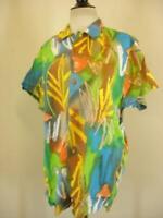 Mens sz L Vtg 1990's Jams World Hawaiian Shirt NWT M630RE-ALOE 100% Rayon Cubana