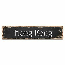 SP0129 Hong Kong Street Sign Bar Store Shop Pub Cafe Home Room Chic Decor