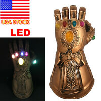 Thanos Infinity Gauntlet LED Light Gloves Cosplay Avengers Infinity War Prop usa