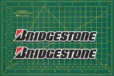 Bridgestone Clásico Rally Coche De Carreras Adhesivo con el logotipo de réplica par Calcomanía De Bicicleta De Carrera
