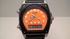 Rare Vintage Seiko Pre-Arnie Orange H449-5040 SilverWave Digi-Ani Alarm Timer
