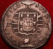 1820 Brazil 960 Reis Silver Foreign Coin