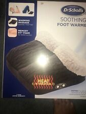 Dr Scholls Soothing Foot Warmer Vibrating Foot Massage with Memory Foam New