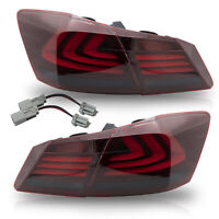 VLAND Modded For 13-15 Accord RED SMOKED LED Taillights w/ Sequential Turn Sig.