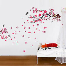 Wall Sticker Flower Mural Decal Paper Art Decoration Monkey Tree Blossom Family