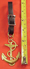 Vintage Brass Ship Anchor Rope 1 1/2 in wd 2 1/4 ht  Pocket Watch Fob Key chain