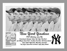 """1937 YANKEES STARTING LINE UP - REPRODUCTION 8.5' x 11"""" B&W PHOTO"""