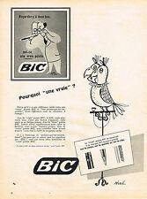 PUBLICITE ADVERTISING 014   1958   BIC   stylo  par SINE