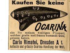 Carlo Rimatei Dresden Kaufen Sie keine OCARINA .... Historische Reklame von 1895