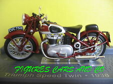 MOTO CLASSIQUE 1/24  TRIUMPH  SPEED TWIN 1938  MOTORRAD MOTORCYCLE