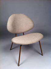 Vintage Reupholstered Mid Century Atomic Era Chair