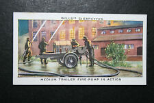 British WW2  Emergency Medium Fire Pump  Vintage Card VGC