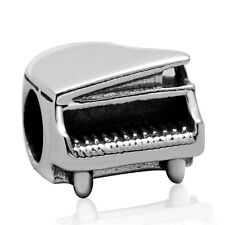 NEW 925 Sterling Silver European Bracelet Charm Bead Grand Piano Music