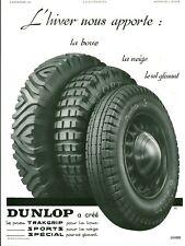 Publicité ancienne accessoire automobile pneu Dunlop 1936 issue de magazine