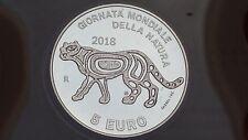 5 euro Ag fdc San Marino 2018 Giornata Natura felino Saint Marin Сан-Марино