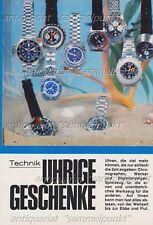 Omega  Bulova  Jaeger le Coultre Tissot Breitling Heuer Uhren - Bericht von 1972