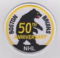 NHL BOSTON BRUINS 50TH ANNIVERSARY PATCH RARE